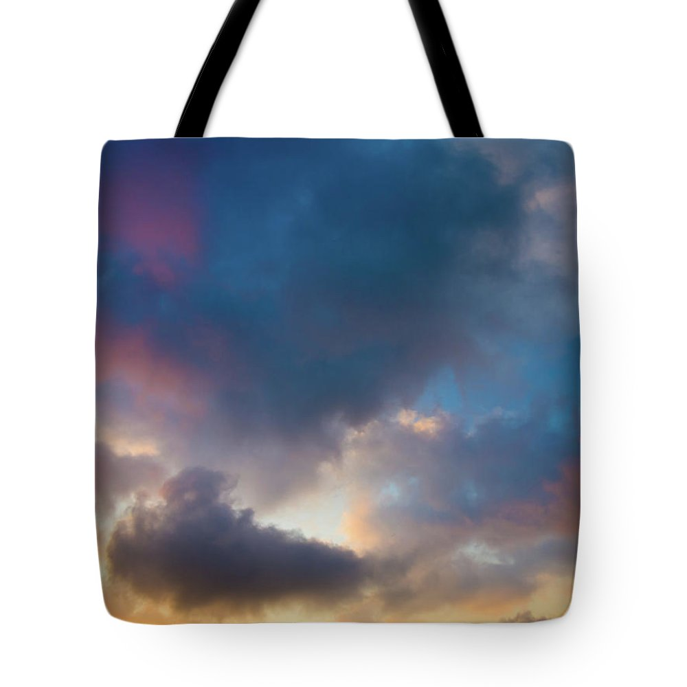 Clouds Tote Bag featuring the photograph Clouds Spotted With Color by Christopher Johnson