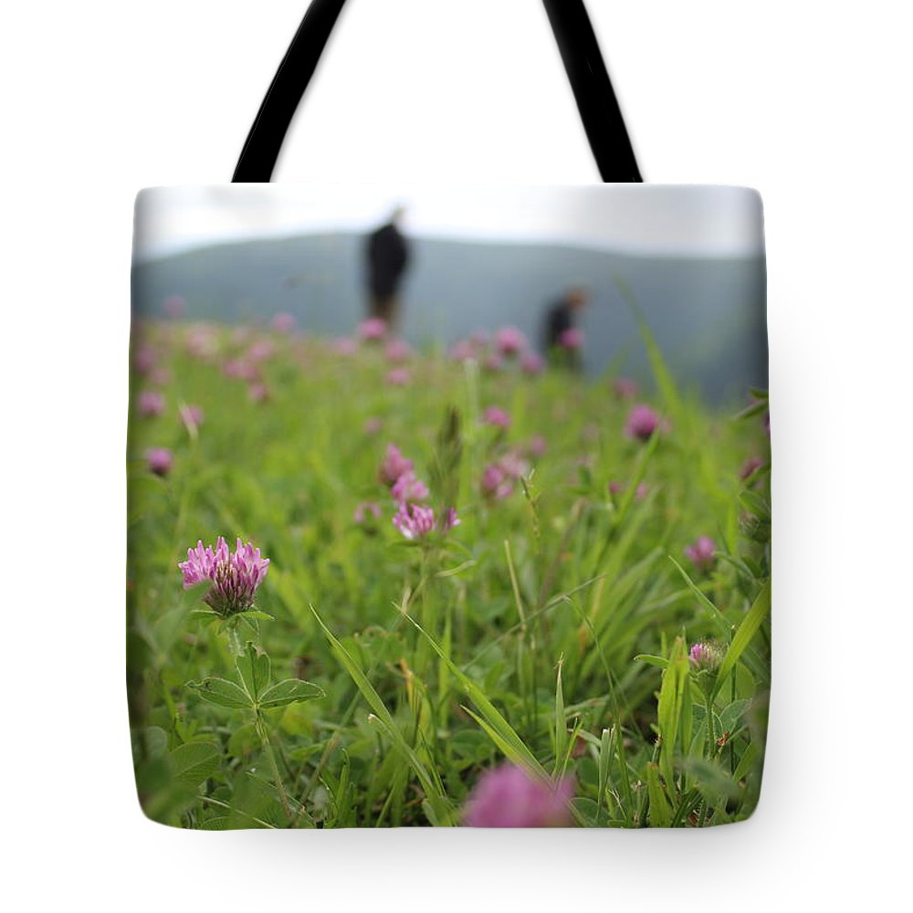 Clovers Tote Bag featuring the photograph Clover Field by Brittany Galipeau