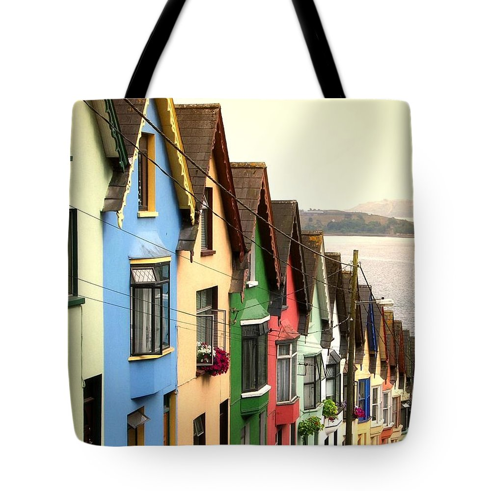 Electricity Pylon Tote Bag featuring the photograph Cobh, Cork by Photo By Natale Carioni