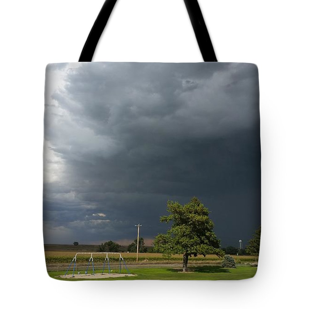 Landscape Tote Bag featuring the photograph Color In The Storm by Kaila Buller