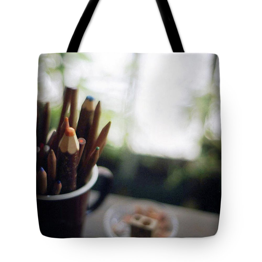 Osaka Prefecture Tote Bag featuring the photograph Color Pencils by K-ko