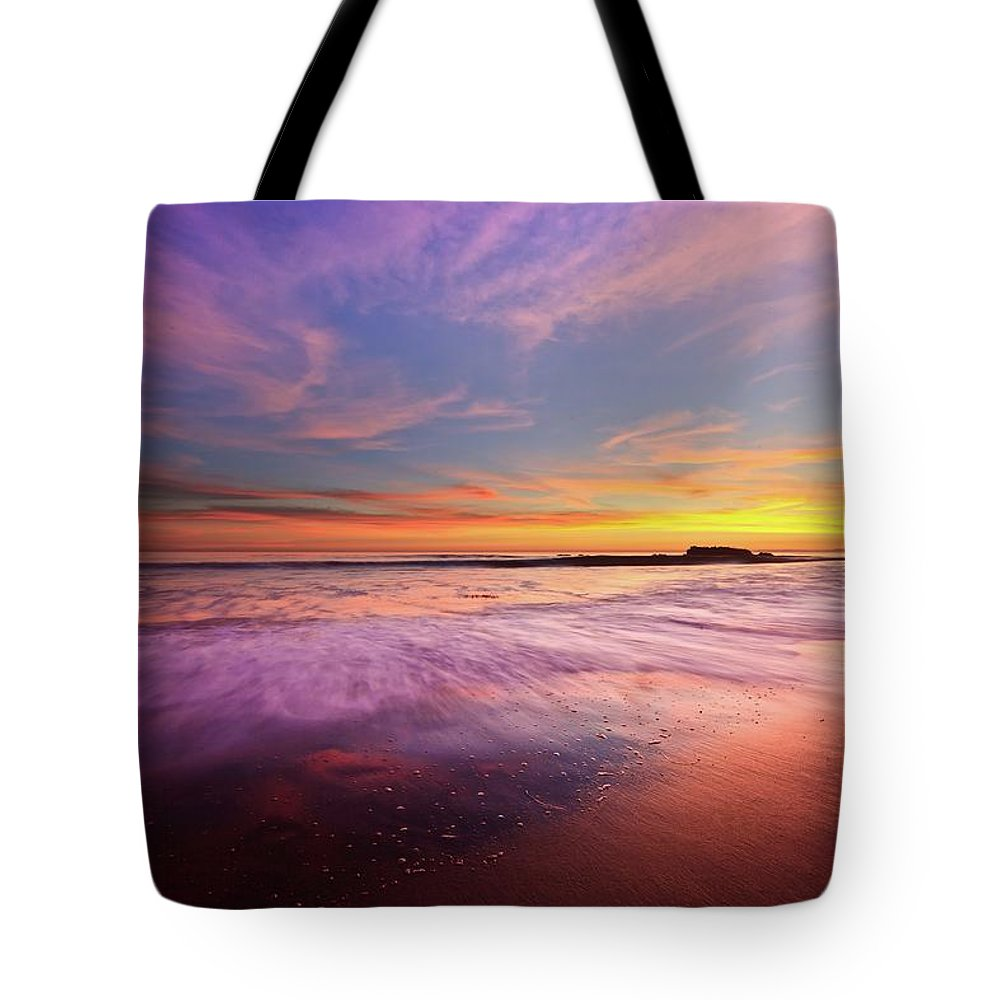 Scenics Tote Bag featuring the photograph Color Splash At Sunset, Laguna Beach by Eric Lo