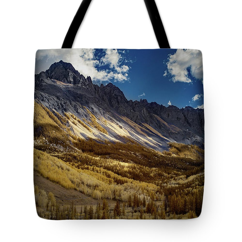 Colorado Tote Bag featuring the photograph Colorado Mountains by Jon Glaser