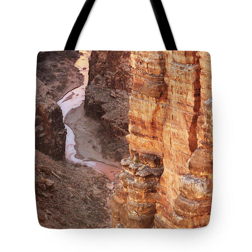 Water's Edge Tote Bag featuring the photograph Colorado River Glen Canyon Gorge by Chuckschugphotography