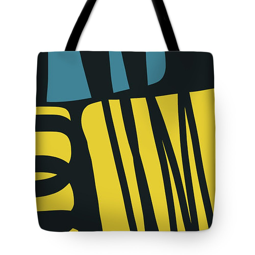 Abstract Tote Bag featuring the digital art Colorful Bento 4- Art By Linda Woods by Linda Woods