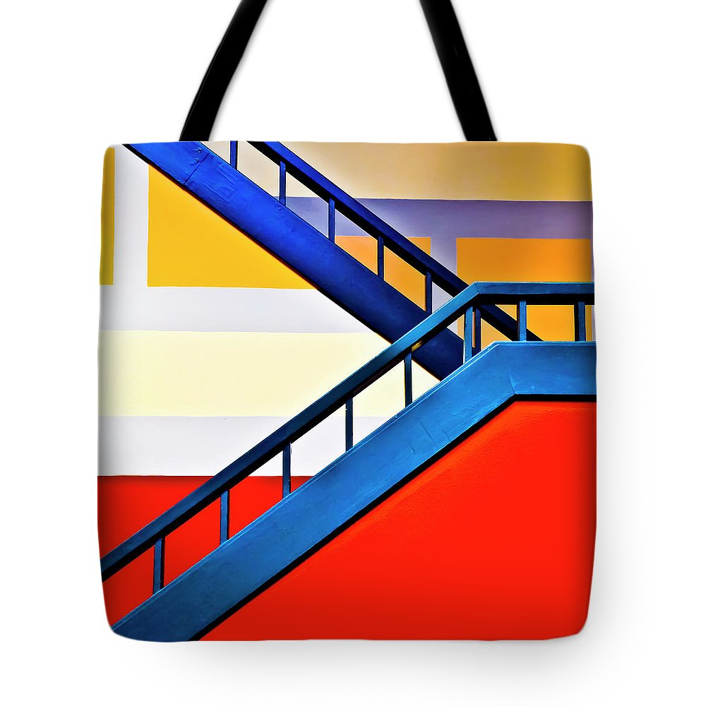 In A Row Tote Bag featuring the photograph Colorful Climb by By Wesbs