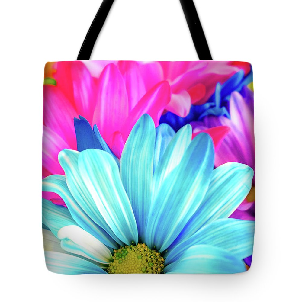 Flowers Tote Bag featuring the photograph Colorful Flowers by Michelle Wittensoldner