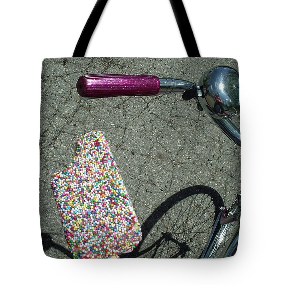 Shadow Tote Bag featuring the photograph Colorful Ice Cream Bar And Vintage by Luisa Pelipetz