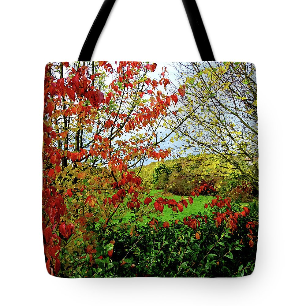 Autumn Tote Bag featuring the digital art Colorful Leaves by Alex Lim