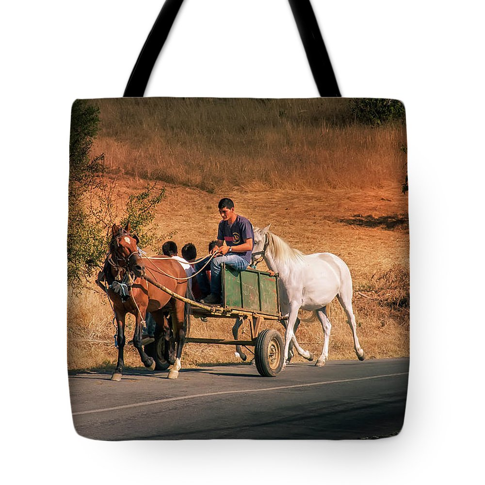 Come Back Home Tote Bag featuring the photograph Come Back Home Before Dusk by Micah Offman