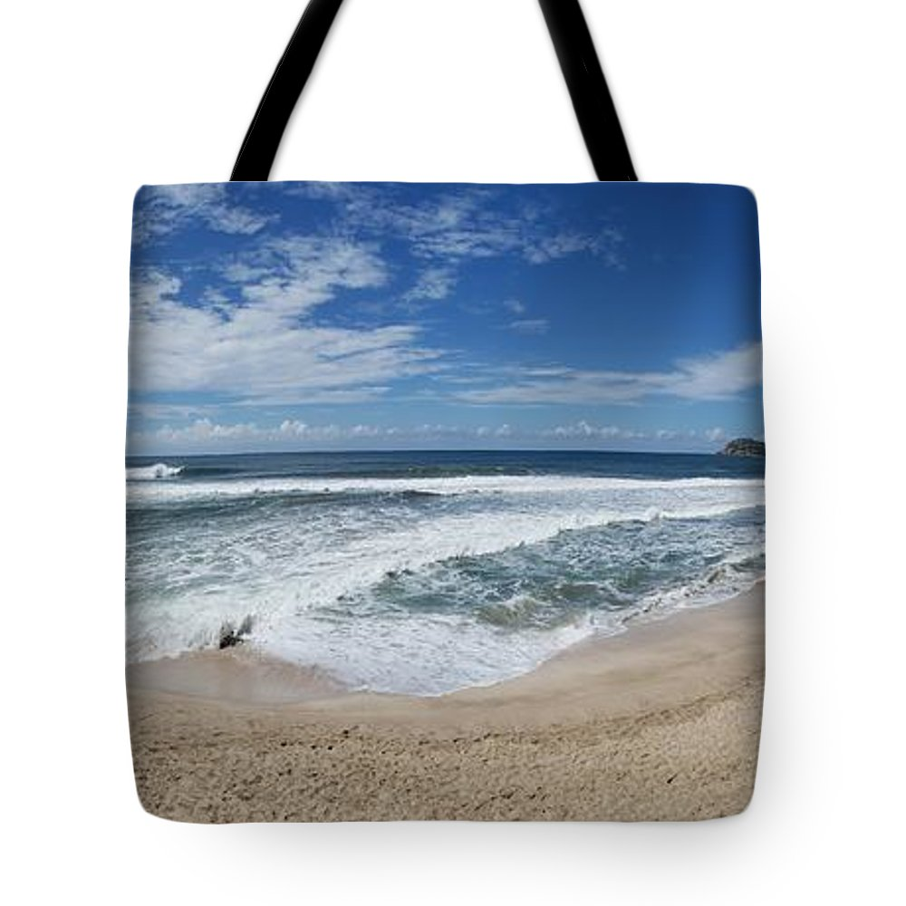 Pacific Tote Bag featuring the photograph Coming Ashore by Teresa G Smith
