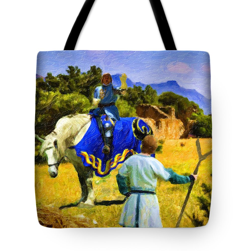 Medieval Image Tote Bag featuring the digital art Coming To A Conclusion by David Zimmerman