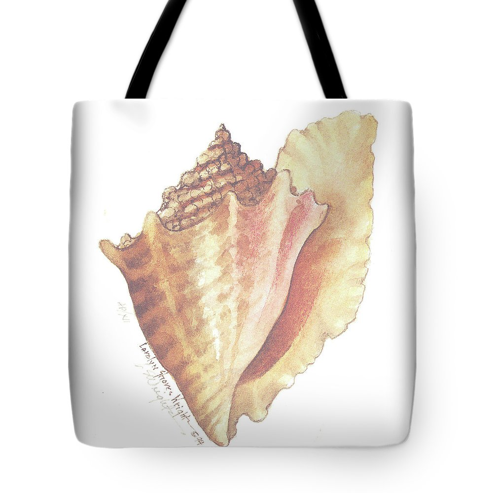 Shell Tote Bag featuring the painting Conch Shell by Carolyn Shores Wright