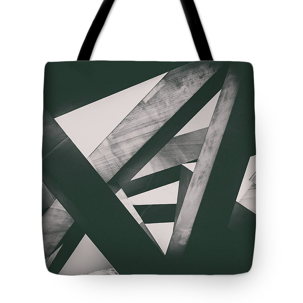 Shadow Tote Bag featuring the photograph Concrete Pillars by Lordrunar