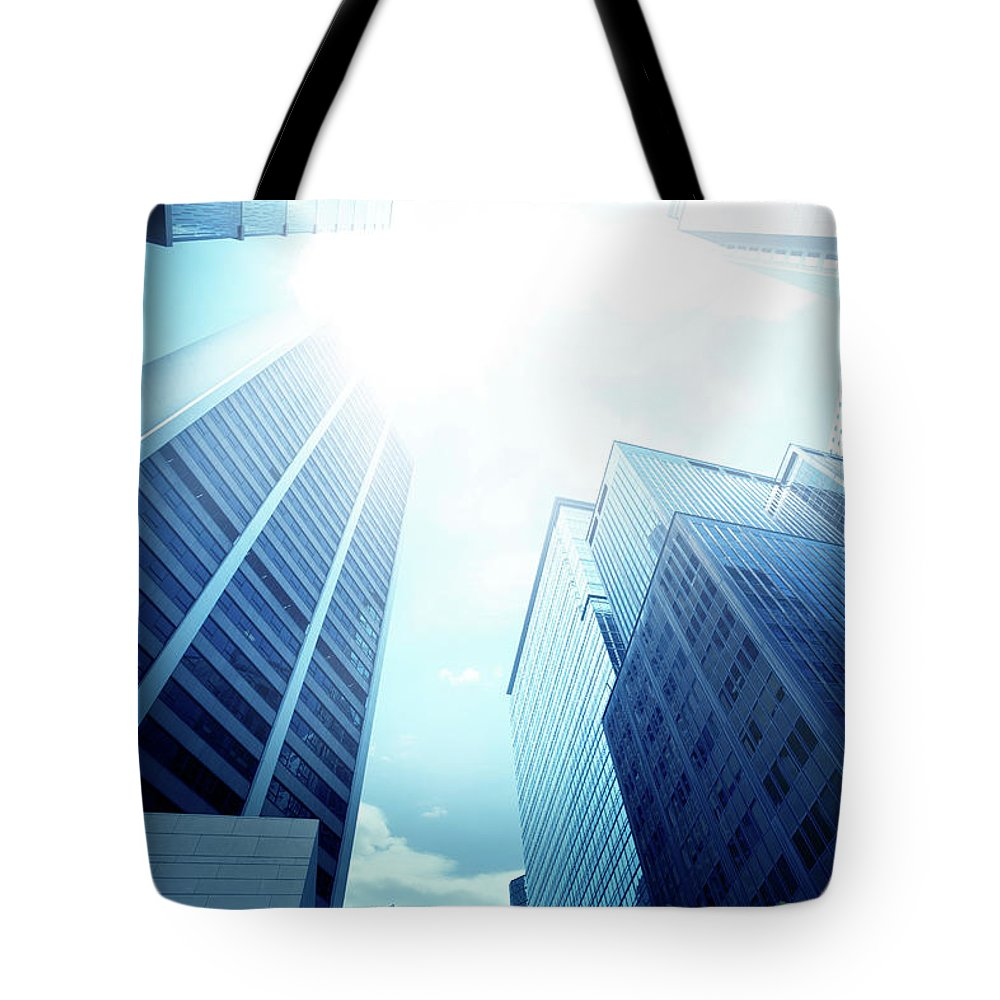 Chinese Culture Tote Bag featuring the photograph Contemporary Office Building by Ithinksky