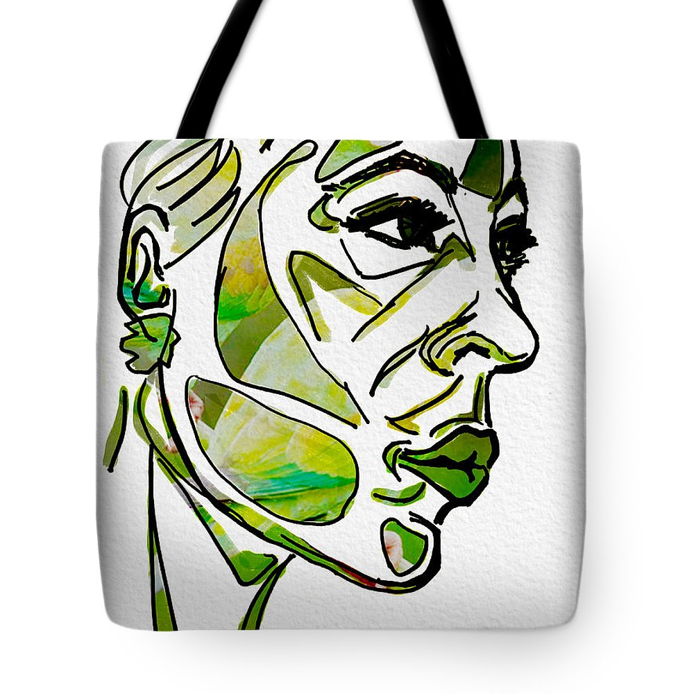 Portrait Tote Bag featuring the digital art Cool Green by Michael Kallstrom
