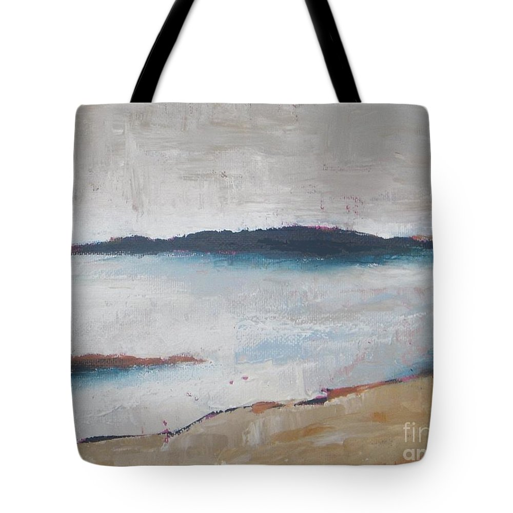 Abstract Tote Bag featuring the painting Cool Lake by Vesna Antic