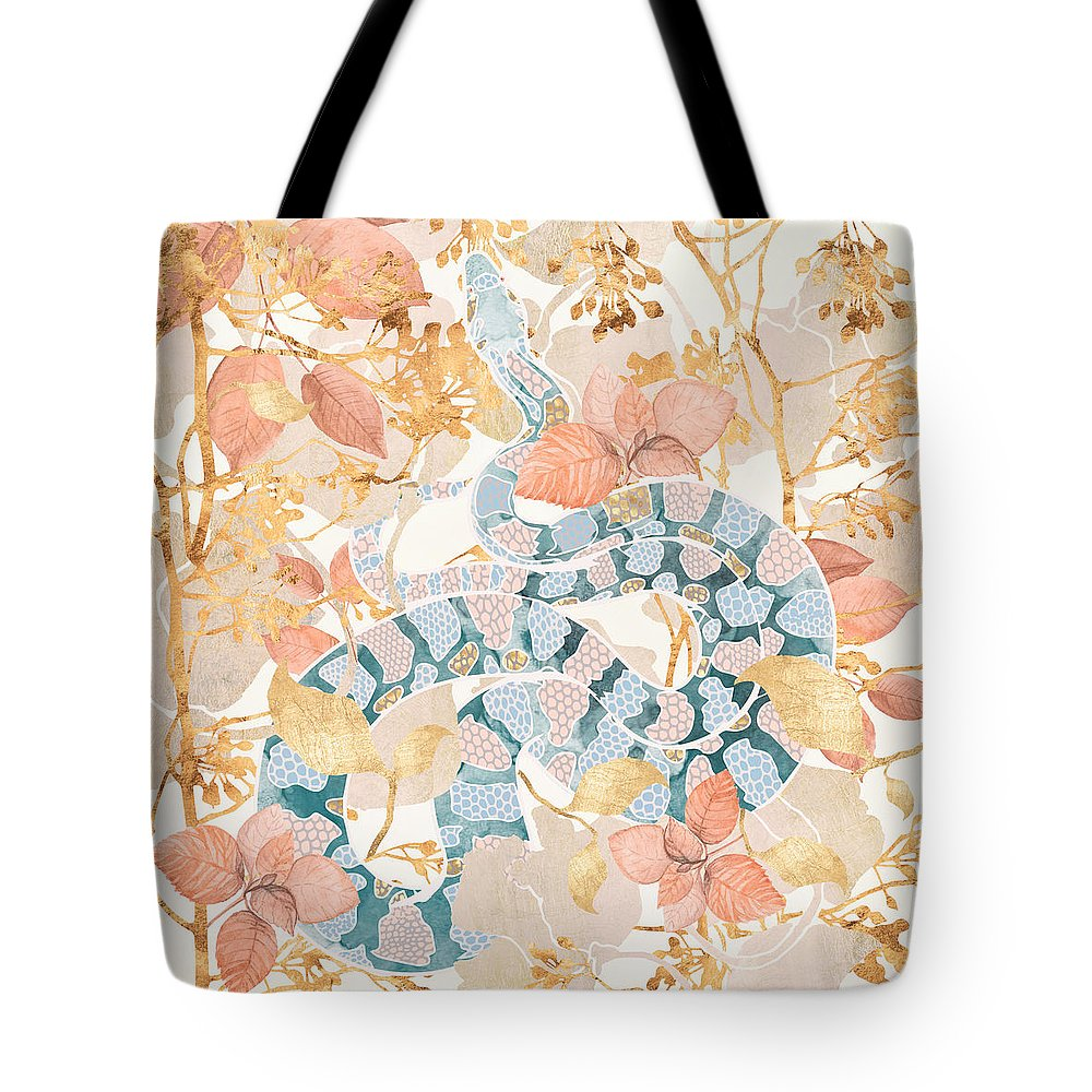 Coral Tote Bag featuring the digital art Coral Spring Garden by Spacefrog Designs