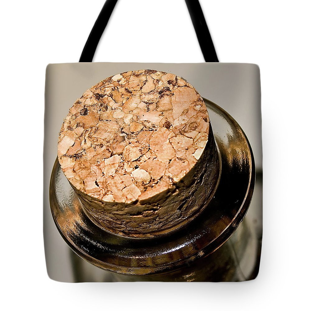 Alcohol Tote Bag featuring the photograph Cork by Losrodri