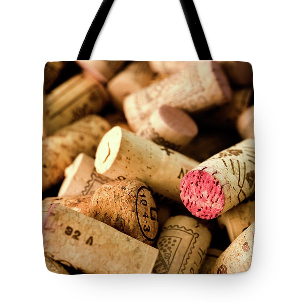 Material Tote Bag featuring the photograph Corks by Duncan1890