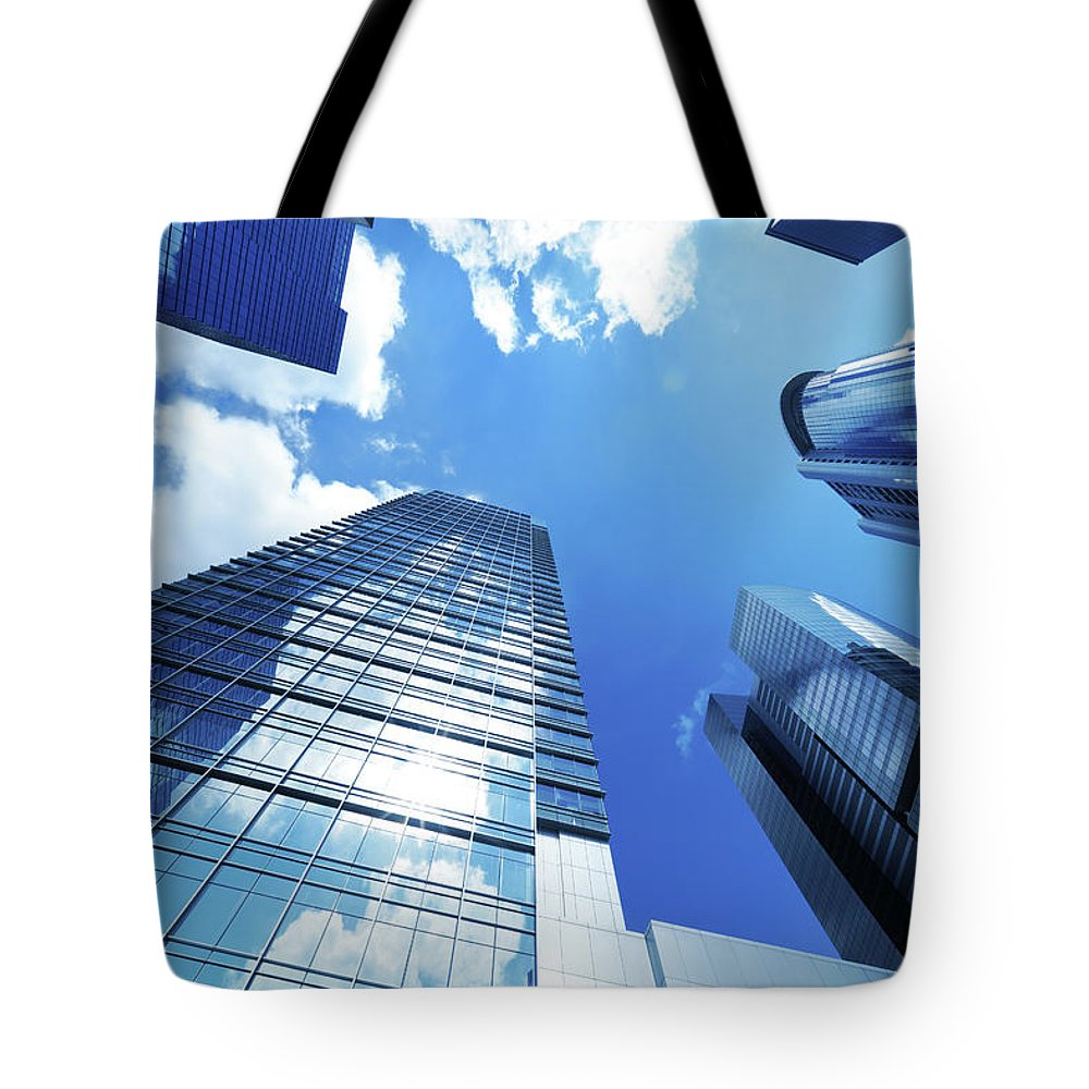 Corporate Business Tote Bag featuring the photograph Corporate Building by Samxmeg