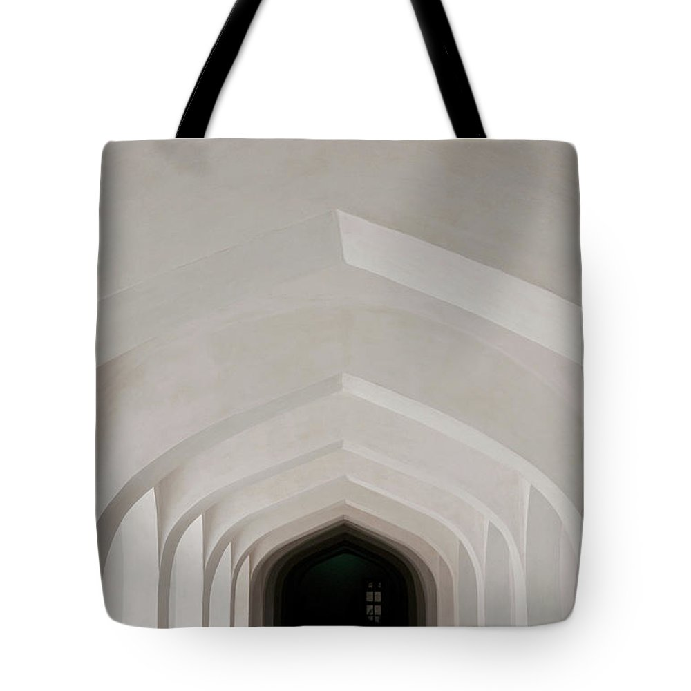 Tranquility Tote Bag featuring the photograph Corridor In Amer Fort, Rajasthan, India by Cultura Exclusive/karen Fox