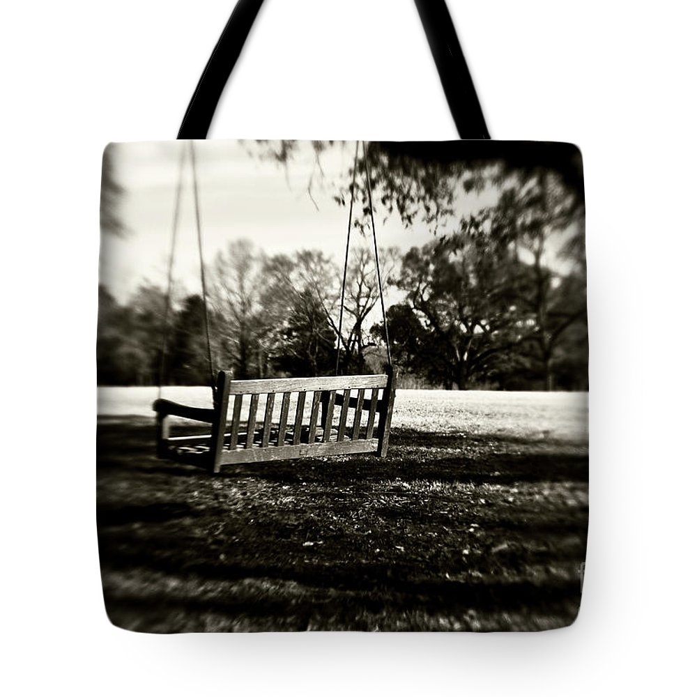 Swing Tote Bag featuring the photograph Country Swing by Scott Pellegrin