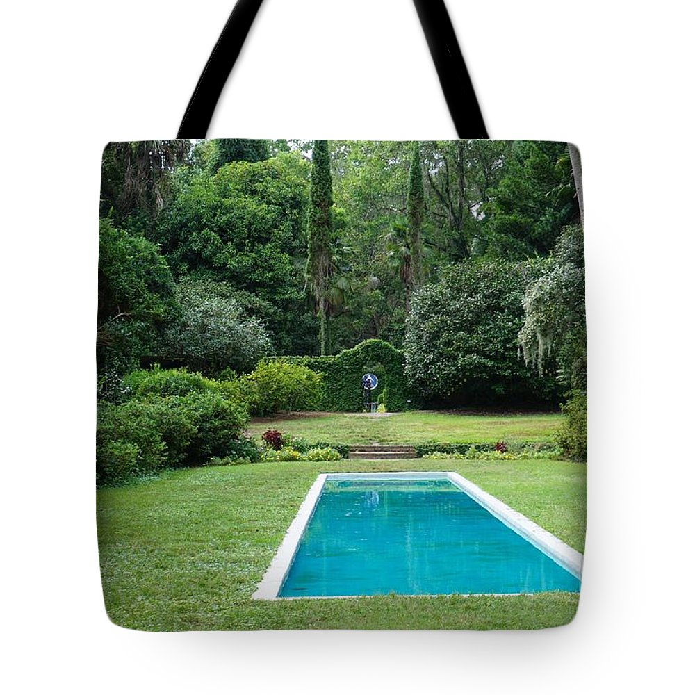 Photography Tote Bag featuring the photograph Courtyard Entrance by Jacquelyn Ramsey