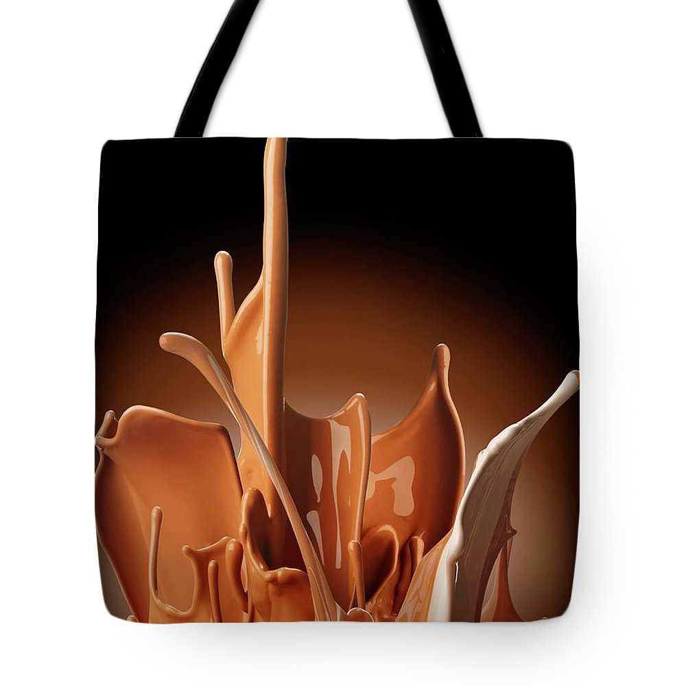 California Tote Bag featuring the photograph Creme Brulee Splash by Jack Andersen
