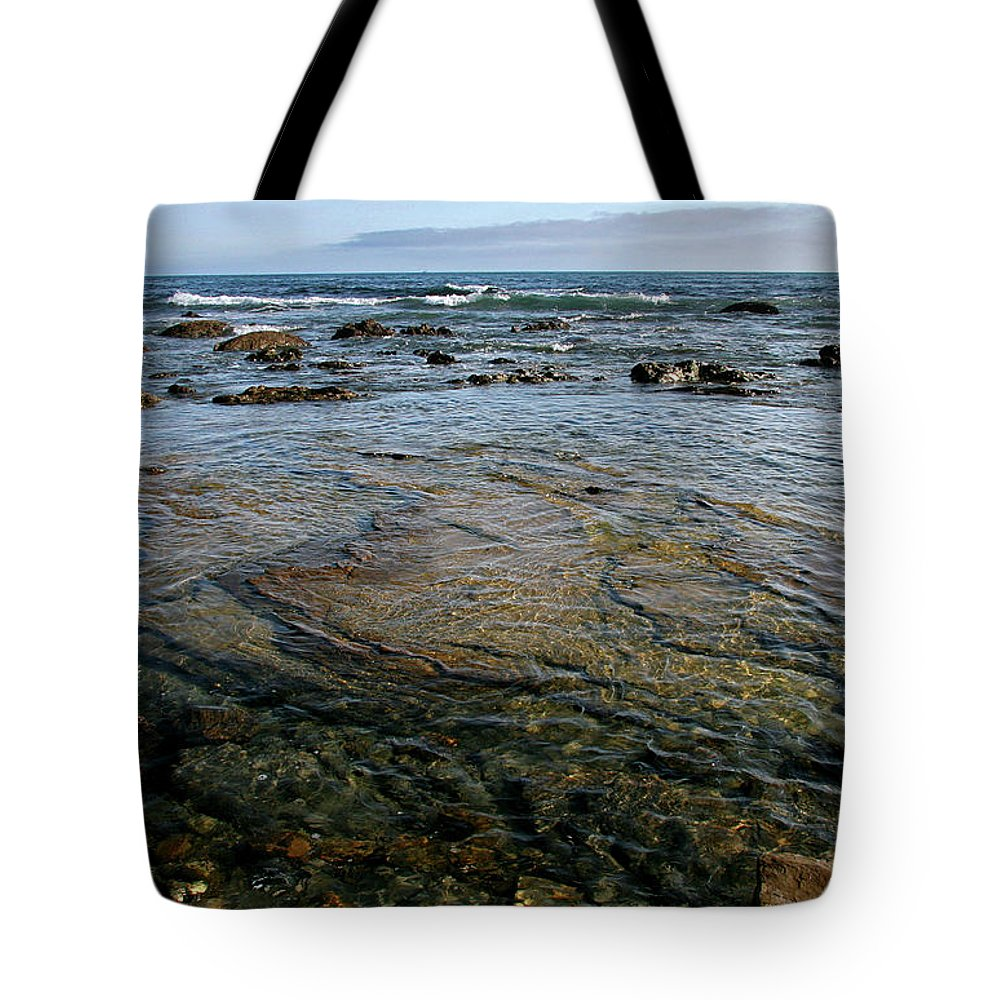 Scenics Tote Bag featuring the photograph Crystal Cove State Park by Stephanie Sawyer