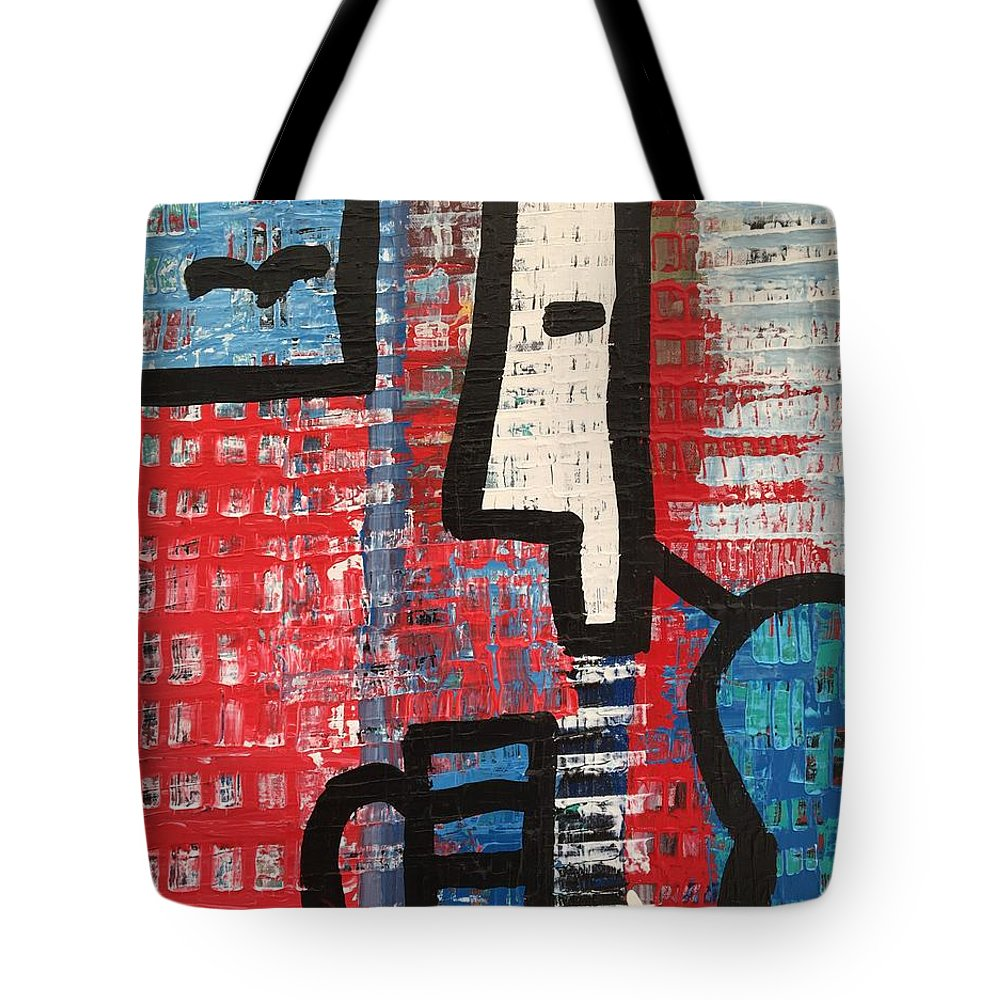 Acrylic On Canvas Tote Bag featuring the painting Cup Of Joe By The Sea by Lara Lenhoff