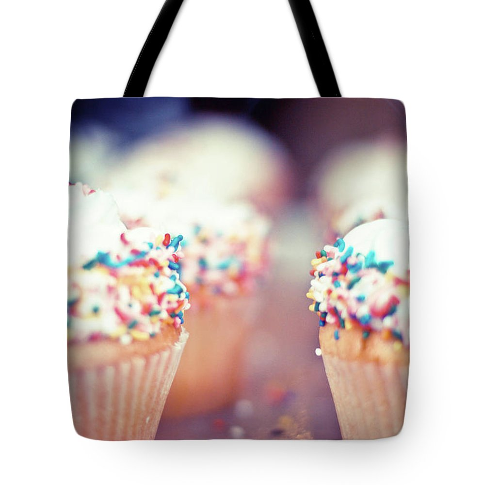 Unhealthy Eating Tote Bag featuring the photograph Cupcakes by Carmen Moreno Photography