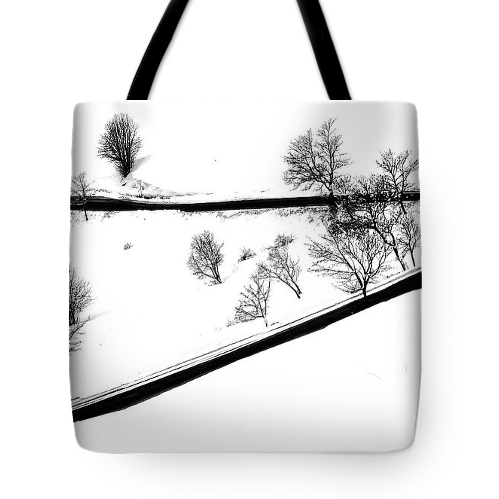 Curve Tote Bag featuring the digital art Curved Light Trails by Martin Pickard