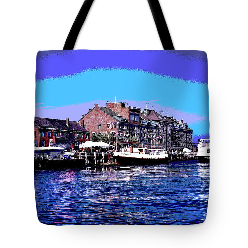 America Tote Bag featuring the mixed media Custom House Block by Charles Shoup