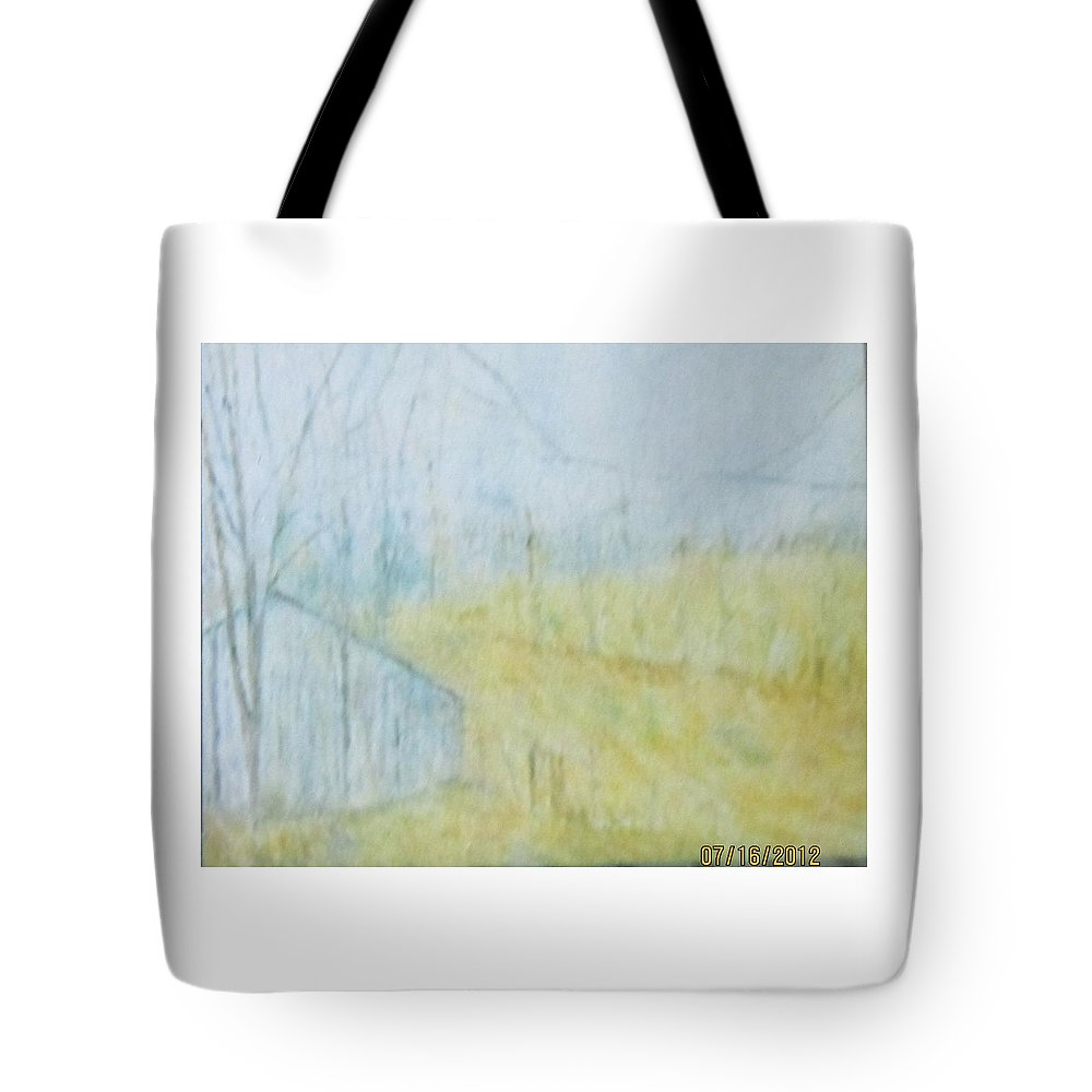 Impressionism Tote Bag featuring the painting Dad's Neat Garage by Glenda Crigger
