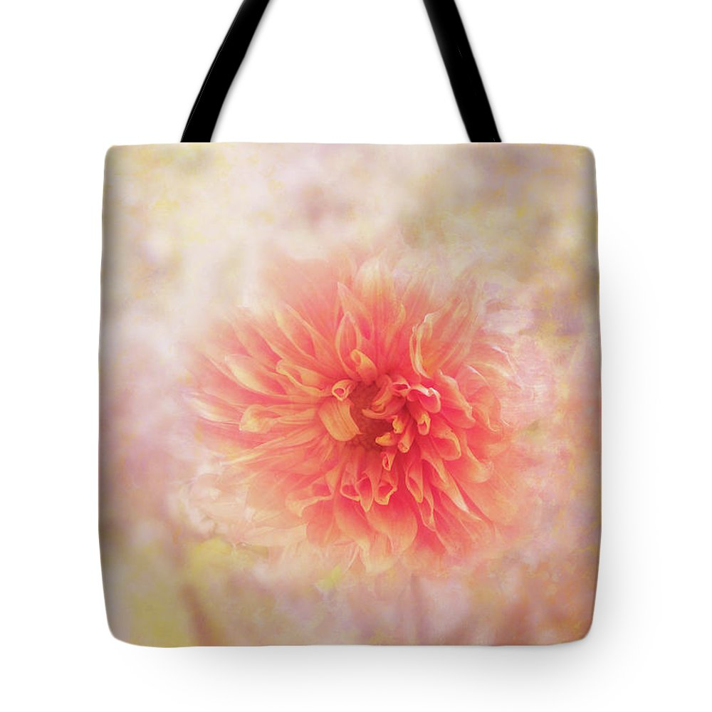 Photography Tote Bag featuring the digital art Dahlia Light by Terry Davis