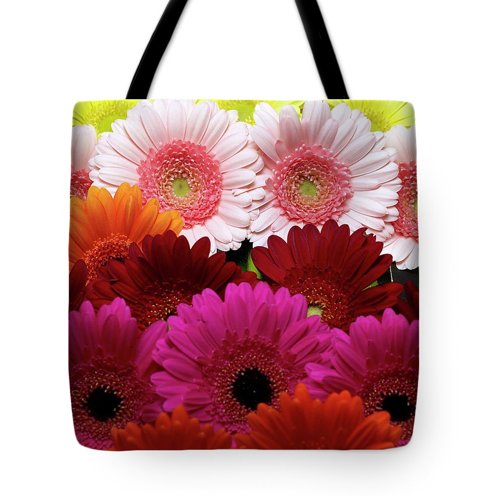 Large Group Of Objects Tote Bag featuring the photograph Daisies by Lumina Imaging