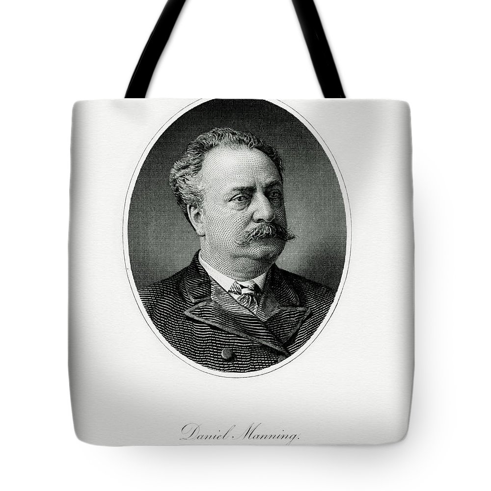 Daniel Manning Tote Bag featuring the painting Daniel Manning by The Bureau of Engraving and Printing