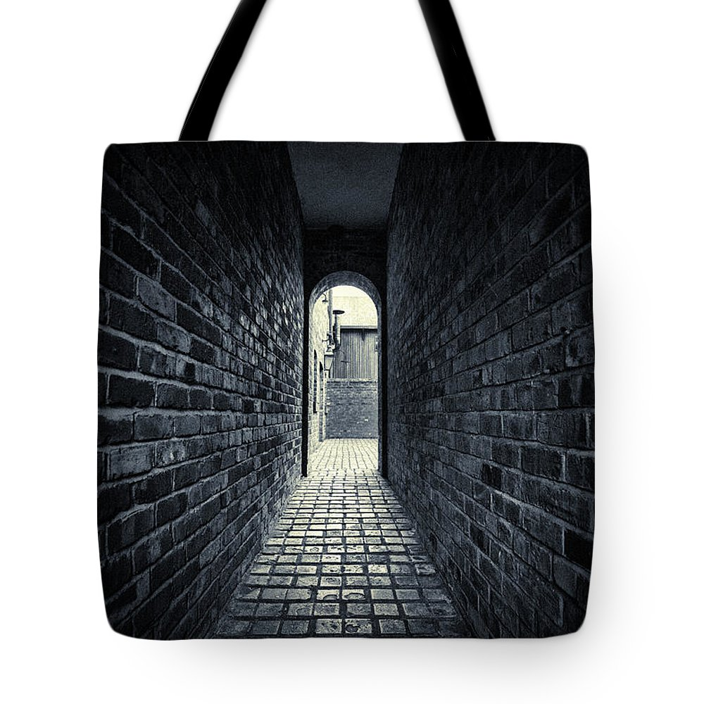 Horror Tote Bag featuring the photograph Dark Alley by Duncan1890