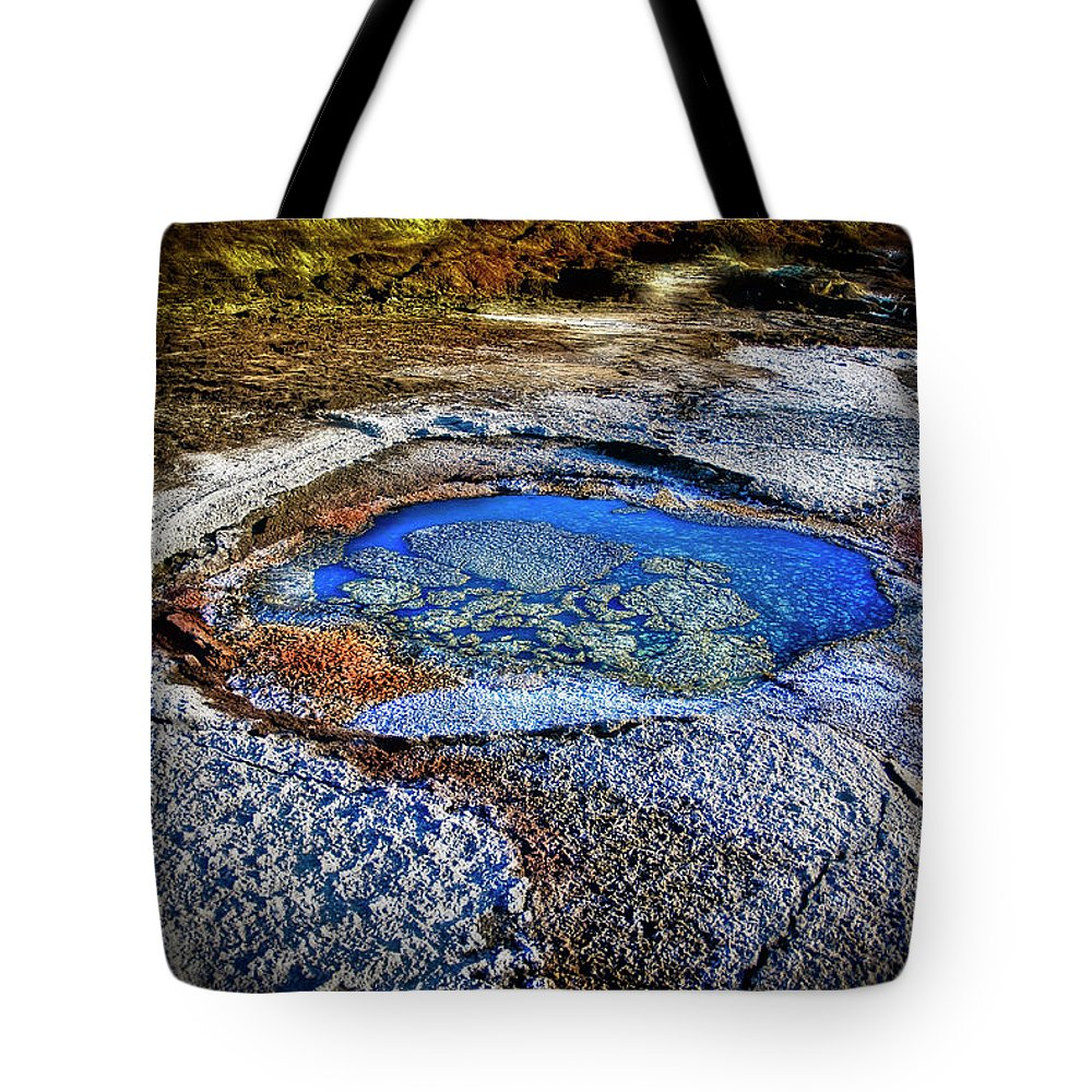 Tranquility Tote Bag featuring the photograph Dead Sea Sink Holes by Photostock-israel