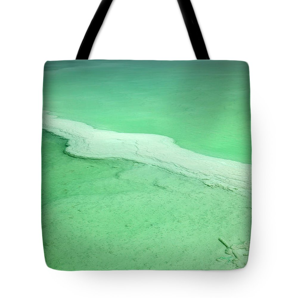 Mineral Tote Bag featuring the photograph Dead Sea Water Surface by Eldadcarin