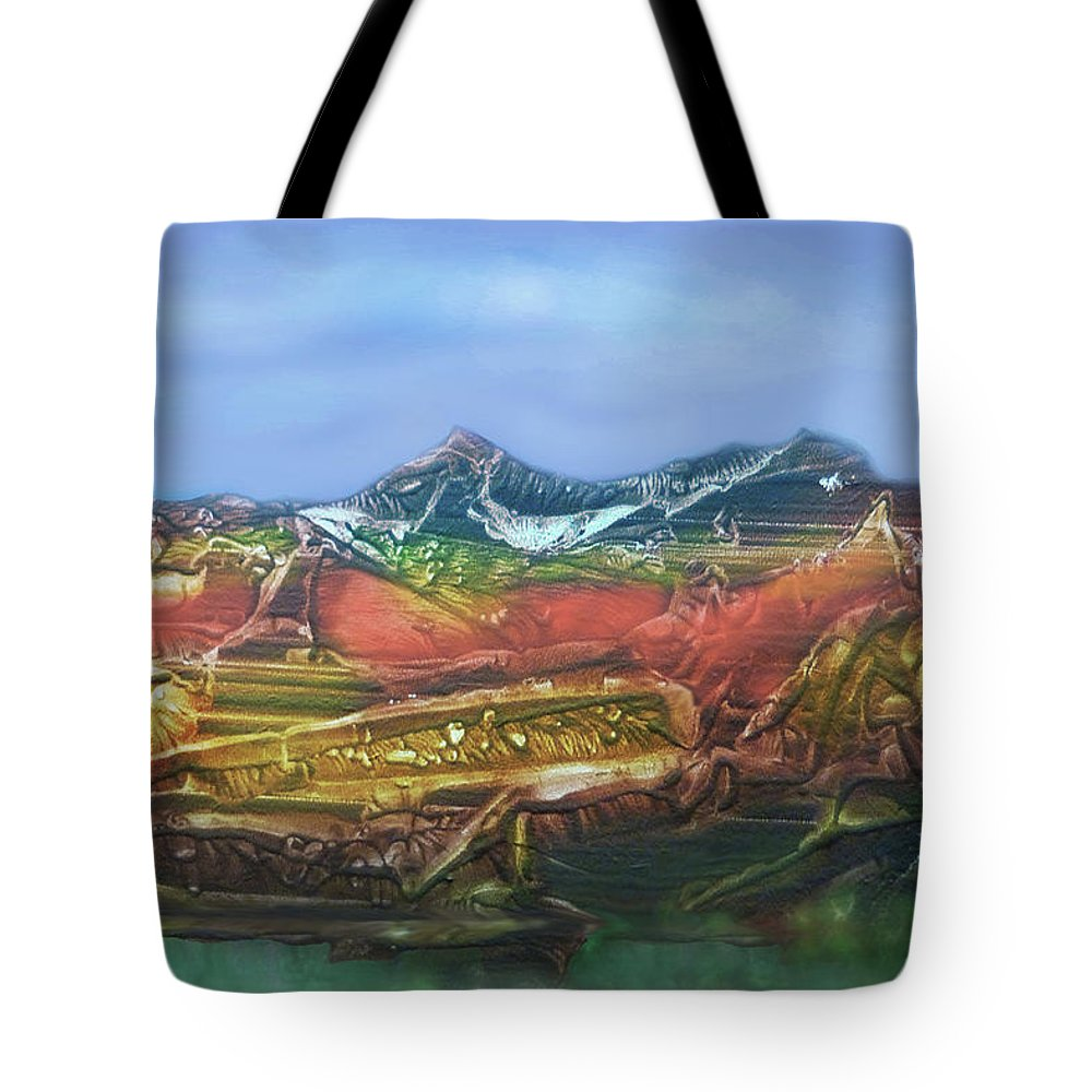 Otto Rapp Tote Bag featuring the digital art Decalcomania 2019-05-21 by Otto Rapp