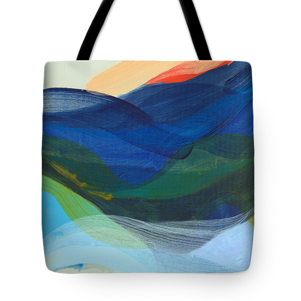 Abstract Tote Bag featuring the painting Deep Sleep Undone by Claire Desjardins