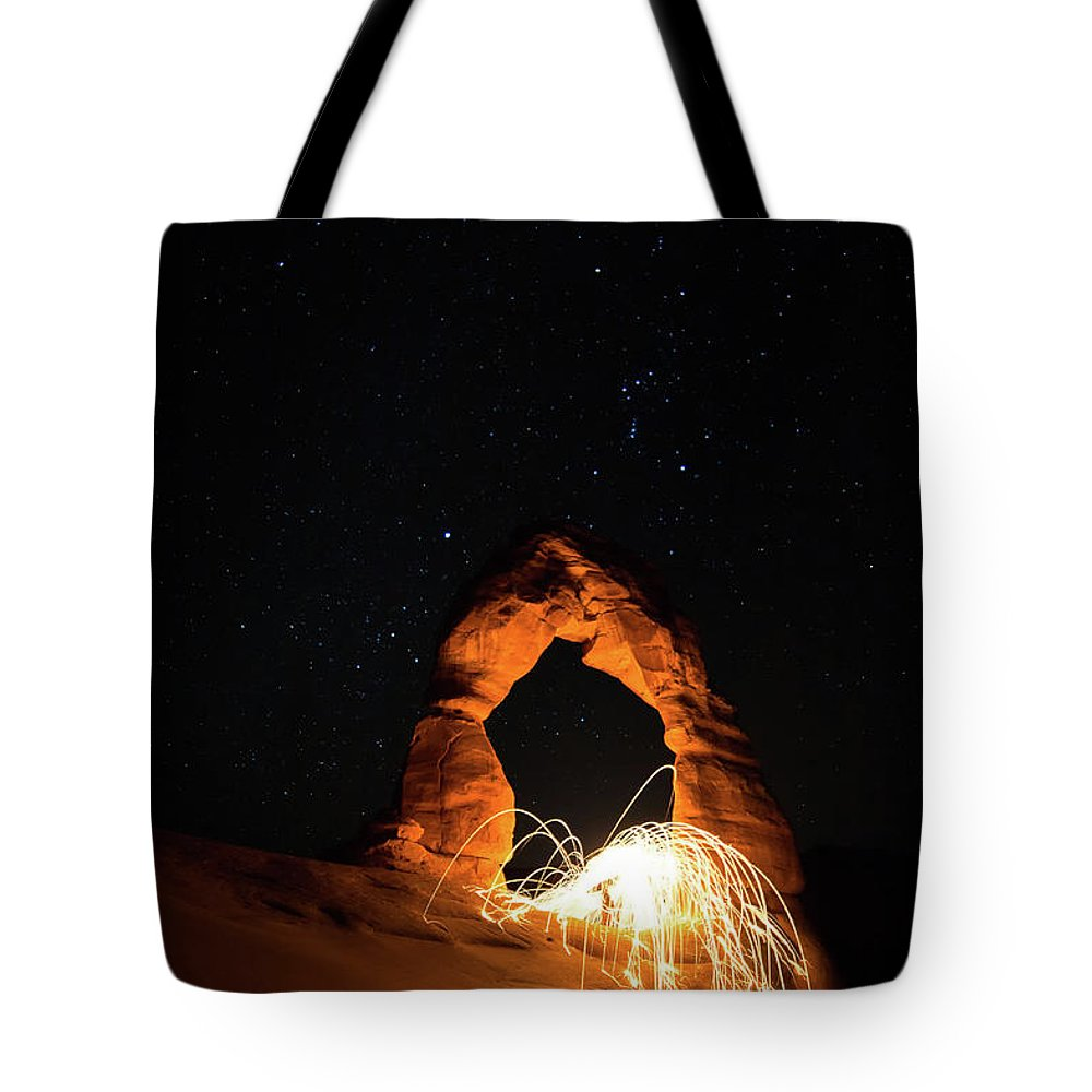 Delicate Arch Tote Bag featuring the photograph Delicate Arch Steel Wool by Nathan Bush