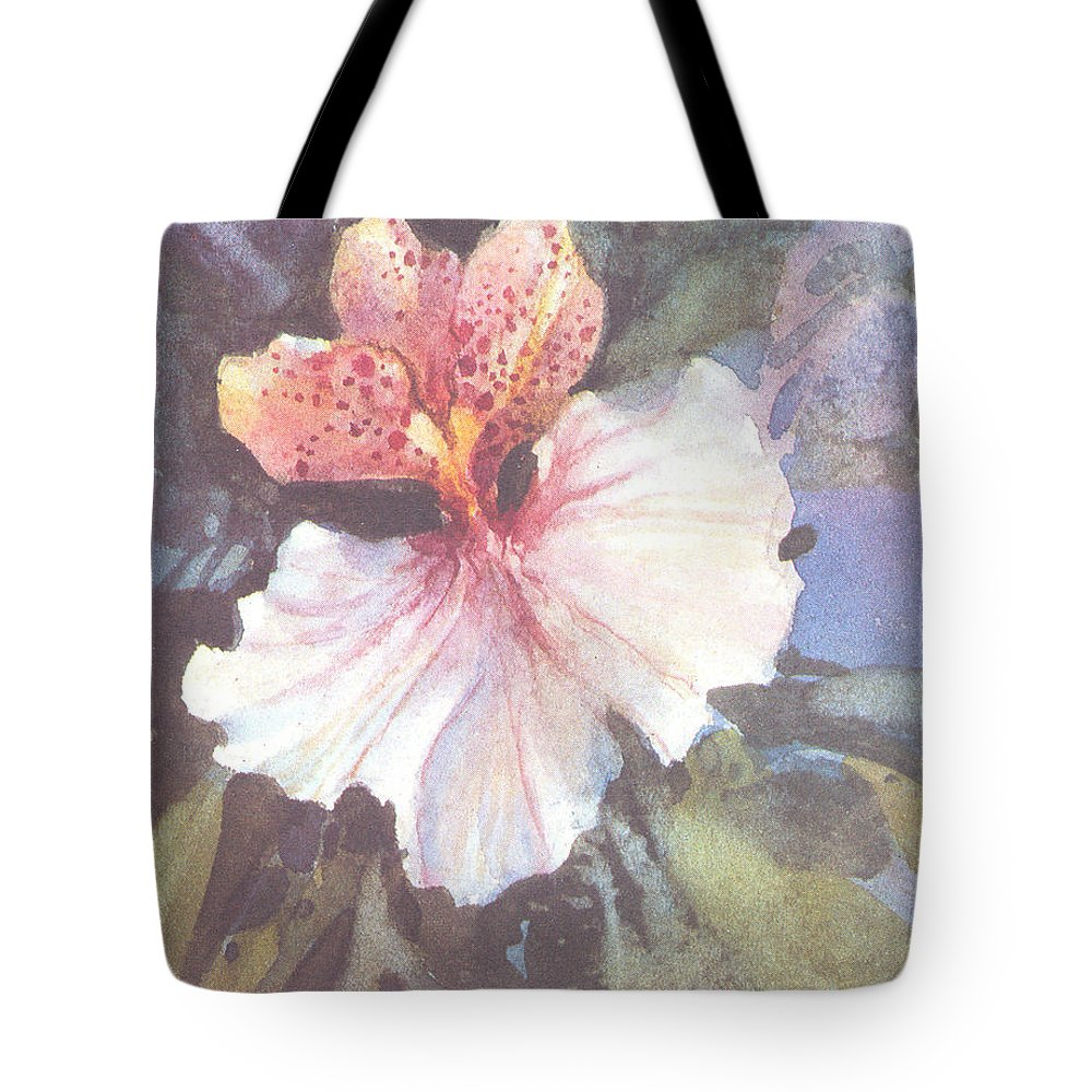 Flower Tote Bag featuring the painting Delight I by Carolyn Shores Wright