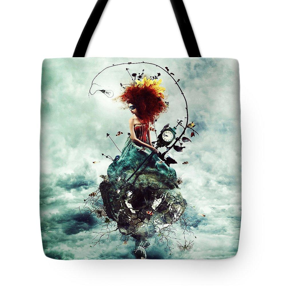 Surreal Tote Bag featuring the digital art Delirium by Mario Sanchez Nevado
