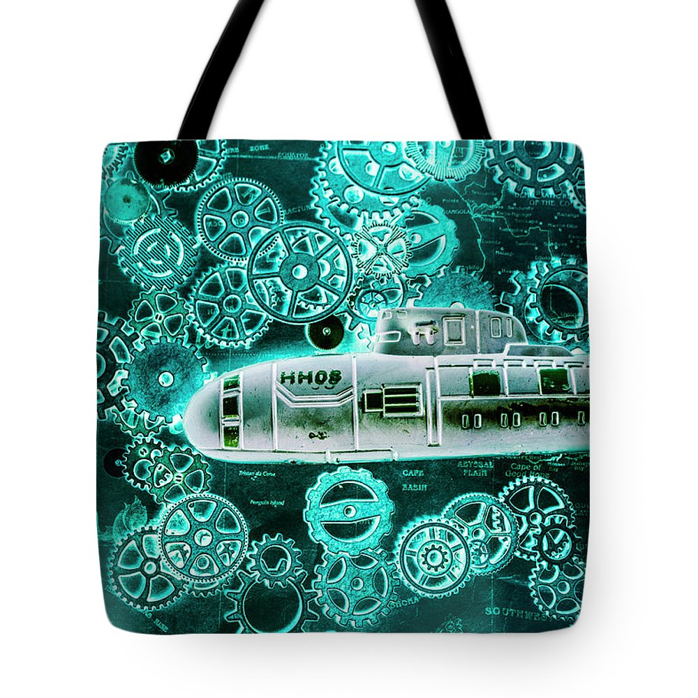 Blueprint Tote Bag featuring the photograph Depth Charged by Jorgo Photography - Wall Art Gallery