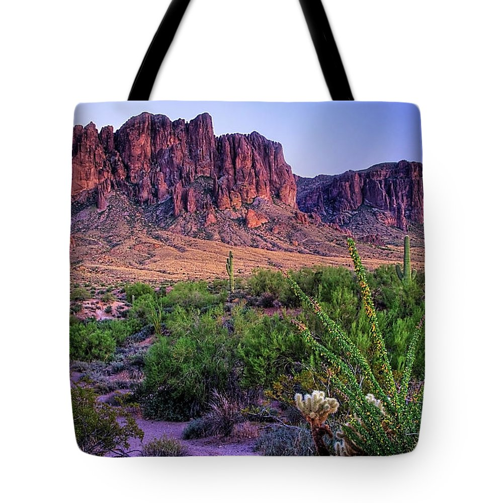 Tranquility Tote Bag featuring the photograph Desert Trail by Patti Sullivan Schmidt