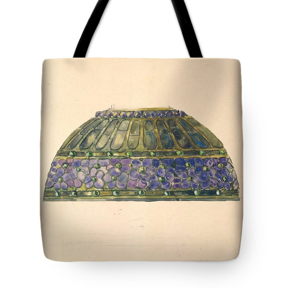Car Tote Bag featuring the painting Design For Floral Lamp Louis Comfort Tiffany American, New York 1848-1933 New York by Louis Comfort Tiffany