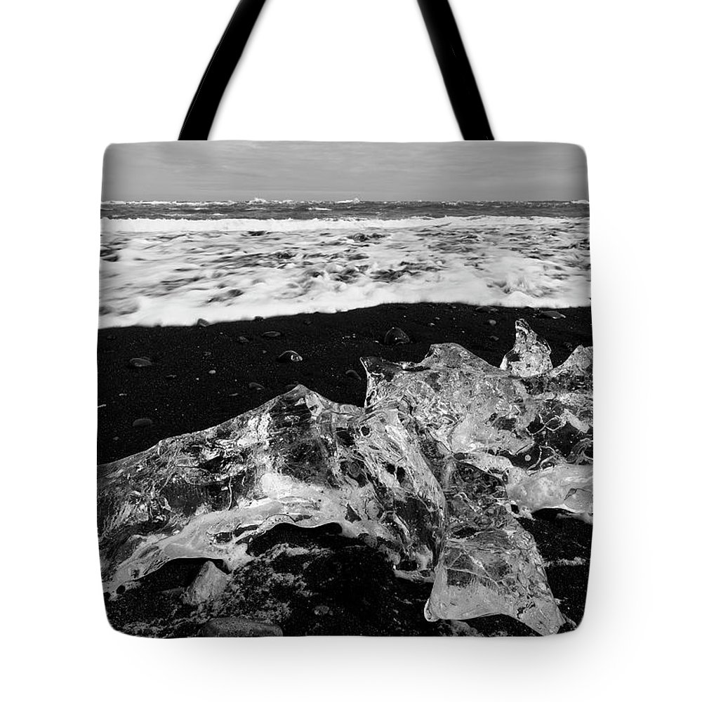 Tote Bag featuring the photograph Diamond Beach Ice 6301902 by Rick Veldman